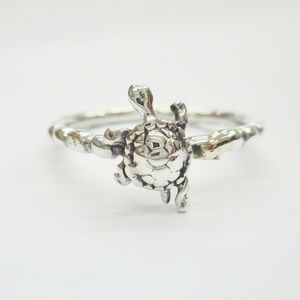 Jewelry - 🐢 Sterling Silver Turtle Midi Boho Ring 🐢